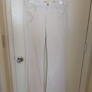 Jessica Simpson white high rise flare jeans sz 31